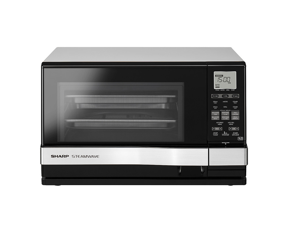 Sharp 1530 Watt Microwave 27 Liter 1150 Watt & Silver Color Black AX-1100 (SL) M