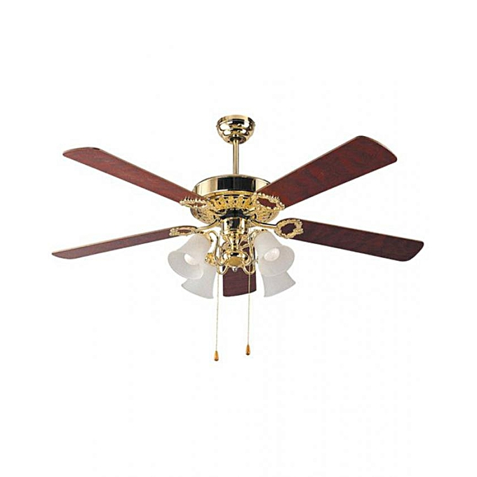 More MFD-54 Decorative Ceiling Fan - 5 Blades - 4 Light Bulbs