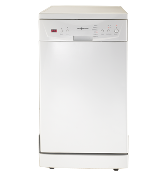 Dishwasher with multiple washing programs  Digital control with indicator light Universal DFM10-DRTSH-WH