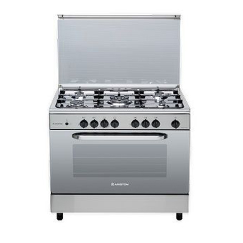 Ariston gas cooker CN 11SG1 (X) / EX- 90x60 cm, 106 liters, 4 gas torch, 2 electric torch, stainless steel grill