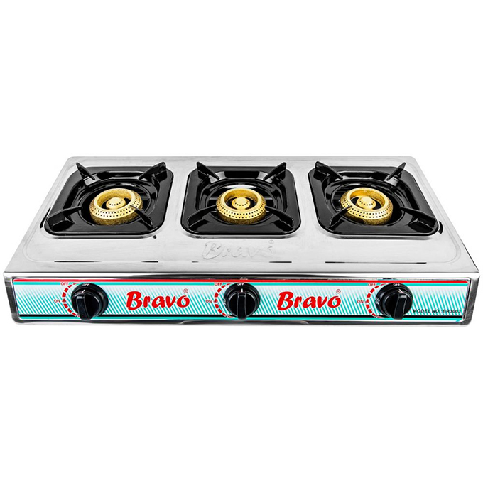 Bravo BR3003 Gas Stove Automatic Ignition- 3 Burners