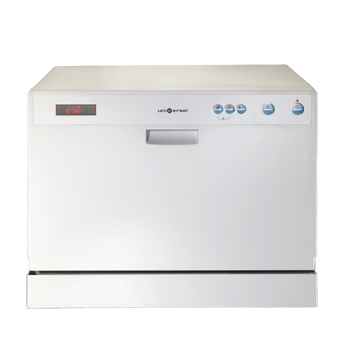 Dishwasher with multiple washing programs Digital control with indicator light Universal DCS7-DTSH-WH