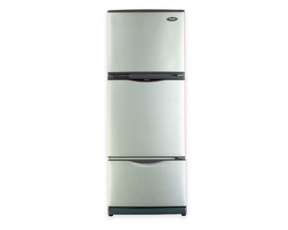 Toshiba 3-door refrigerator with a capacity of 340 liters Silver Silver Nufrost GR-EFV45-S
