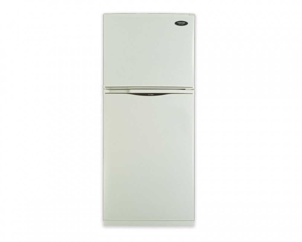 Toshiba Refrigerator 2 door with a capacity of 304 liters white color Nufrost GR-EF33-W