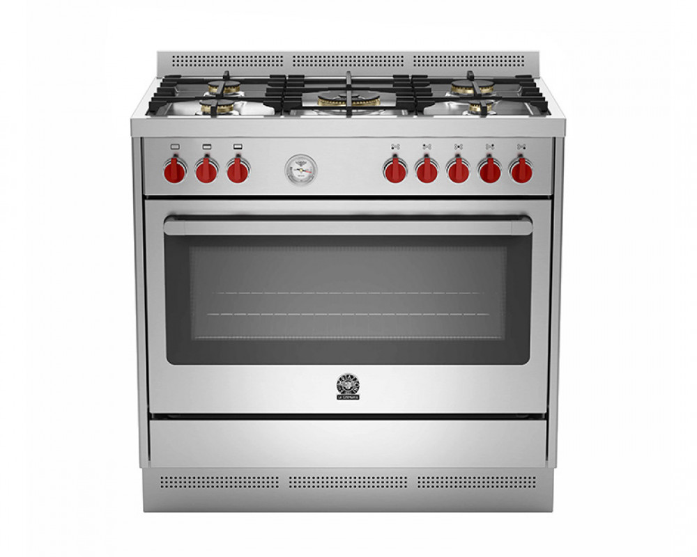LaGermania gas stove 5 Prima gas  60 x 90 cm with two stainless steel fans RIS95C81AX