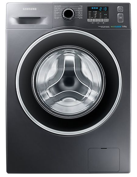 Samsung WF80F5EHW4X / AS Automatic washing machine - silver, 8 kg