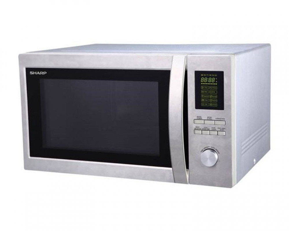 Sharp 1100 Watt 43 Liter Microwave with 1200 Watt Color Silver R-78BR ST