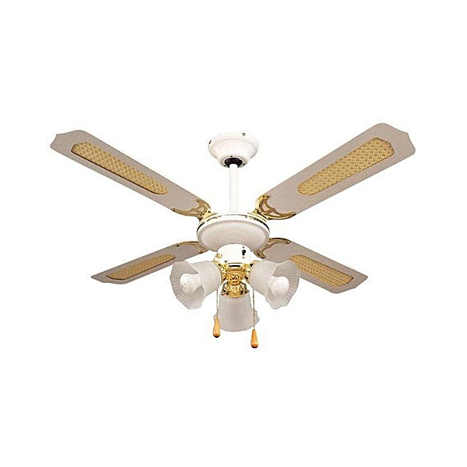 More MFD-43 Decorative Ceiling Fan - 4 Blades - 3 Light Bulbs