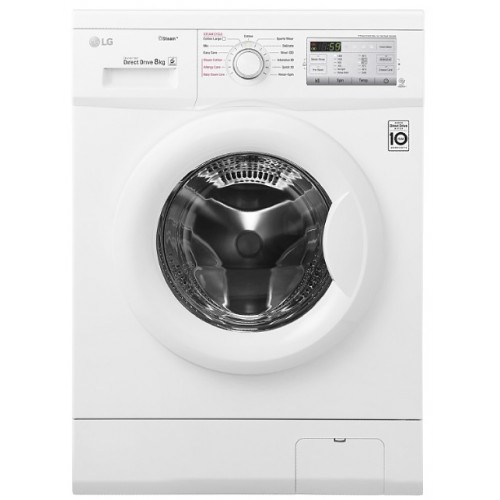 LG Washing Machine 8K 1400 Steam Roll White Color Drive Direct Drive FH4G7TDY0