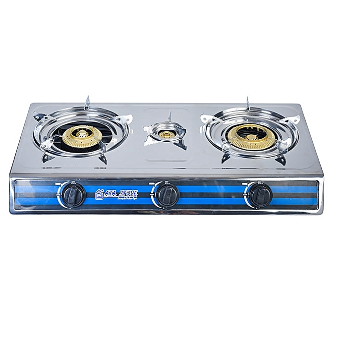 ATA Stainless Steel Gas Stove - 3 Flame