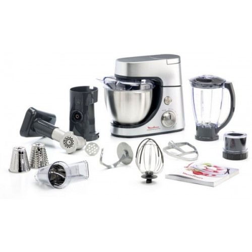 MOULINEX KITCHEN MACHINE MASTERCHEF GOURMET 900 WATT SILVER: QA503DB1