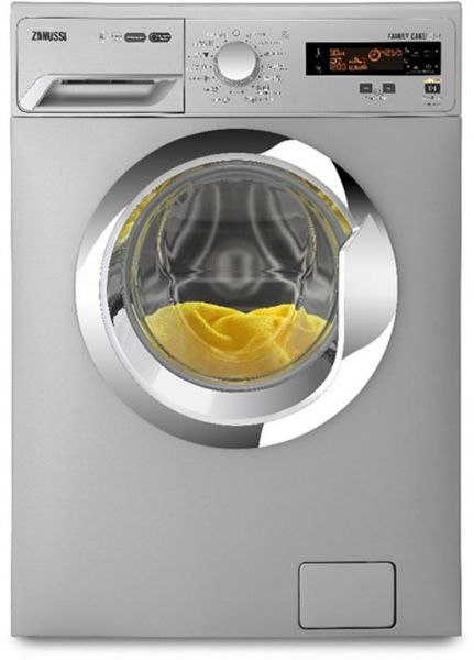 ZANUSSI Washing Machine ZWF81251SX, 8 KG, Digital, Silver