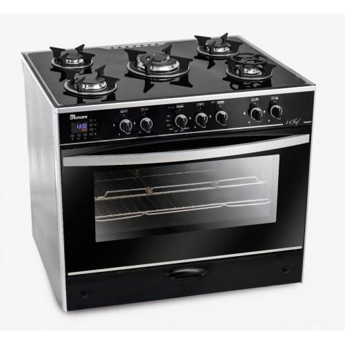 Ion Cooker Smart 5 Flame 60 * 90 cm Glass surface Full safety Flame with fan Touch keys C6090GS-AC-383-IDSH-S