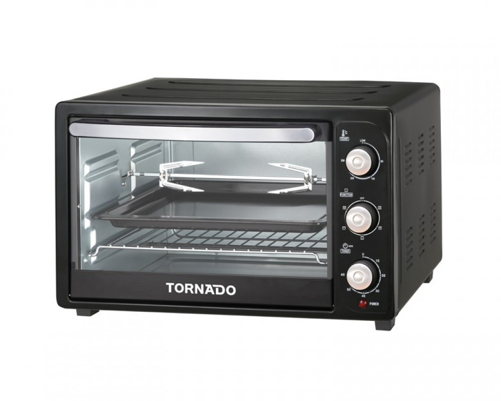 Tornado 1500W electric oven with a capacity of 35 liters with a bulb & grill and fan TEO-35RCL