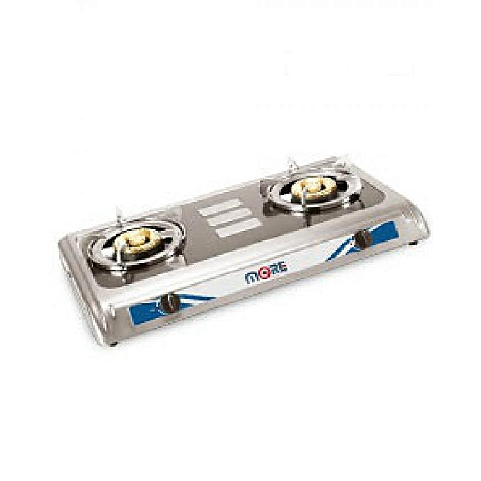 More M-Go2000SS  Hot Plate Gas - Stainless Steel - 2 Burners
