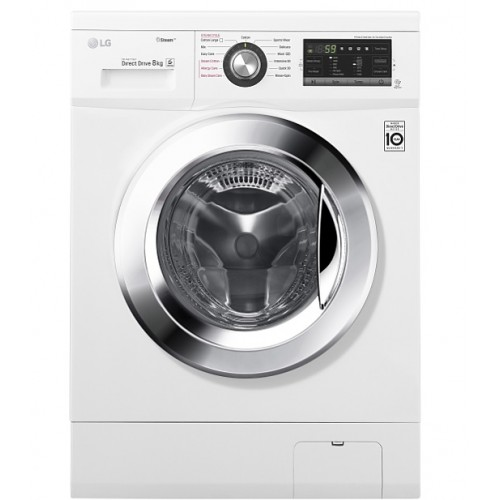 LG Washing Machine 8 Kilo 1400 Steam Roll White Color Drive Direct Drive FH4G6TDY2