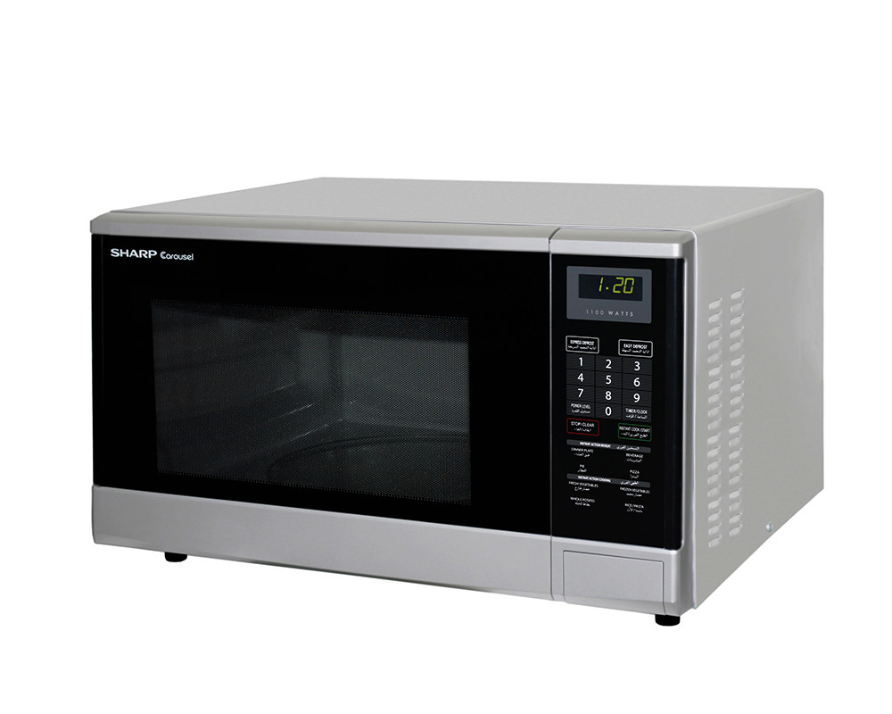 Microwave Sharp 1100 Watt 32 Liter & Color Silver R-340R (S)