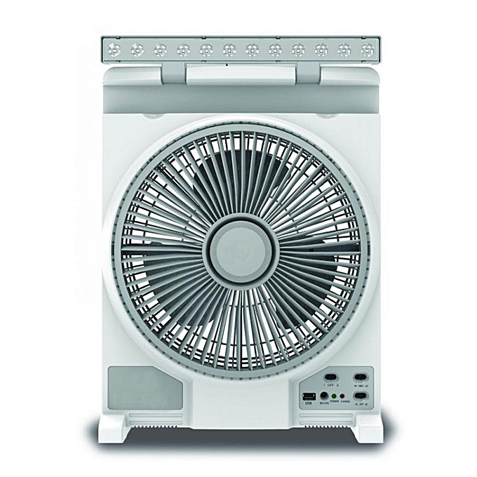 More MB-12R Rechargeable Fan - 24 W - 3 Speeds - 3 Blades