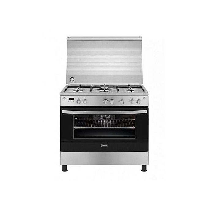 Zanussi ZCG92396XA Gas Cooker - 5 Torch - Silver / Black