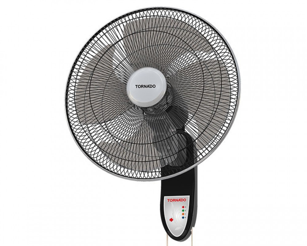 18-inch Tornado wall fan with 3 speeds & 4 EPS-18 plastic feather