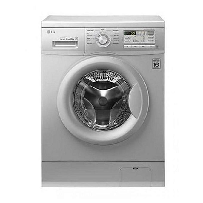LG F1496TDT24 Front Loading Washing Machine - 8KG - Silver