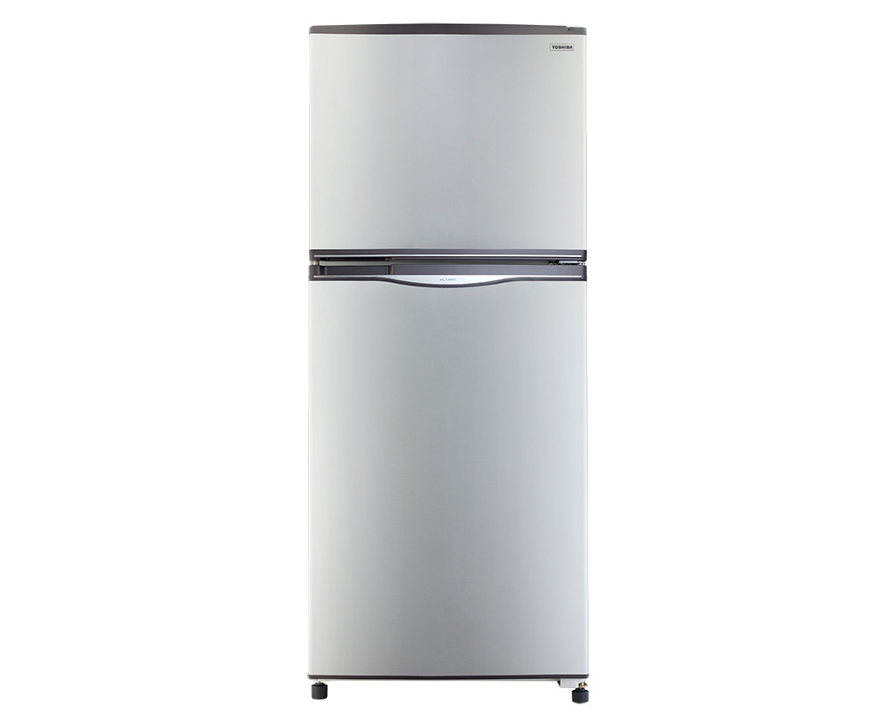 Toshiba Refrigerator 2 door with a capacity of 304 liters Silver Nufrost GR-EF33-S